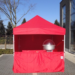 Verkoopstand 2,5x2,5m - Rood